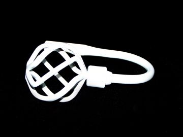 Gloss White Twisted Cage Curtain Tiebacks / Holdbacks.